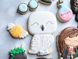 Hedwig Cookie Cutter Decorated