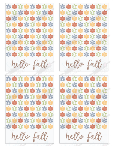 Hello Fall Cookie Card