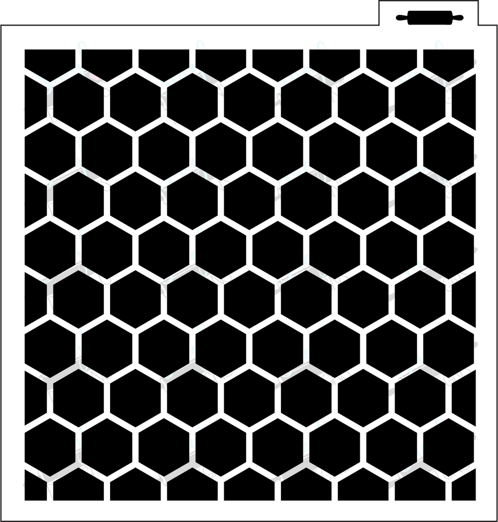Honeycomb/Hexagon Background Stencil