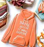 Hoodie Cookie Cutter Decorated