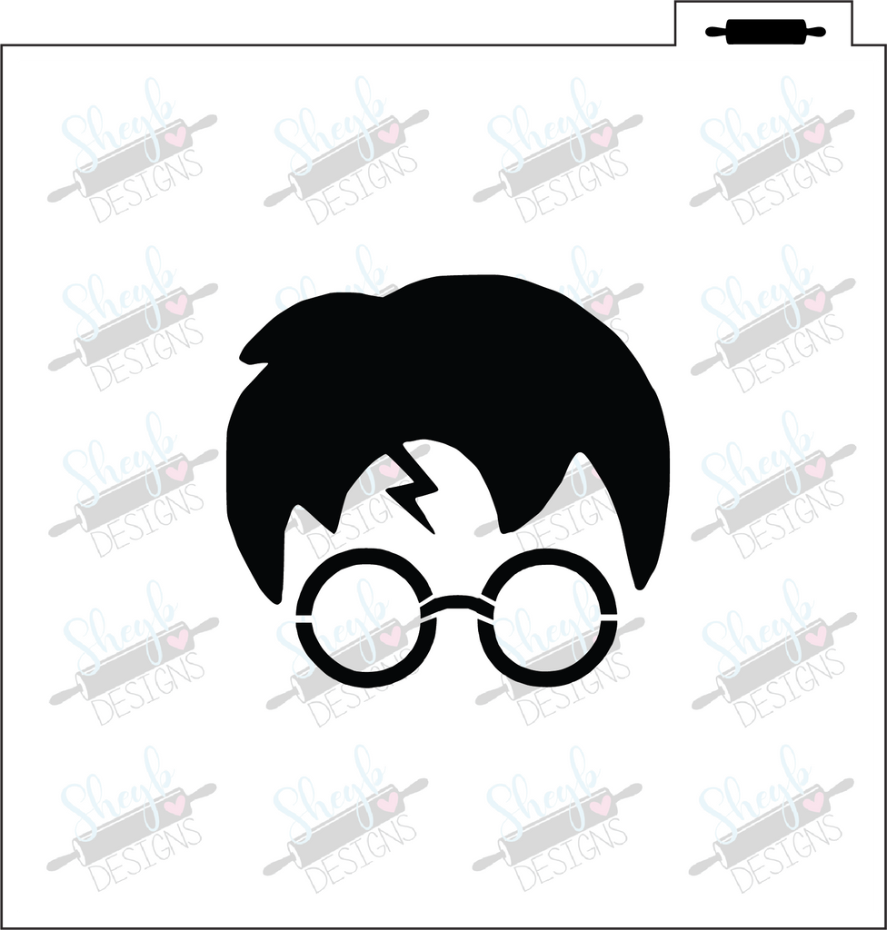 Harry Potter Face Stencil