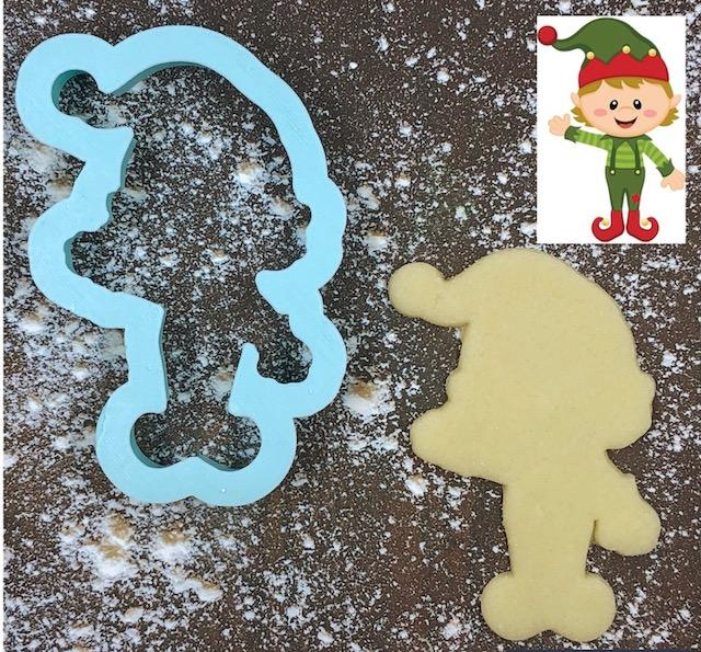 Jangle the Elf Cookie Cutter with Cookie