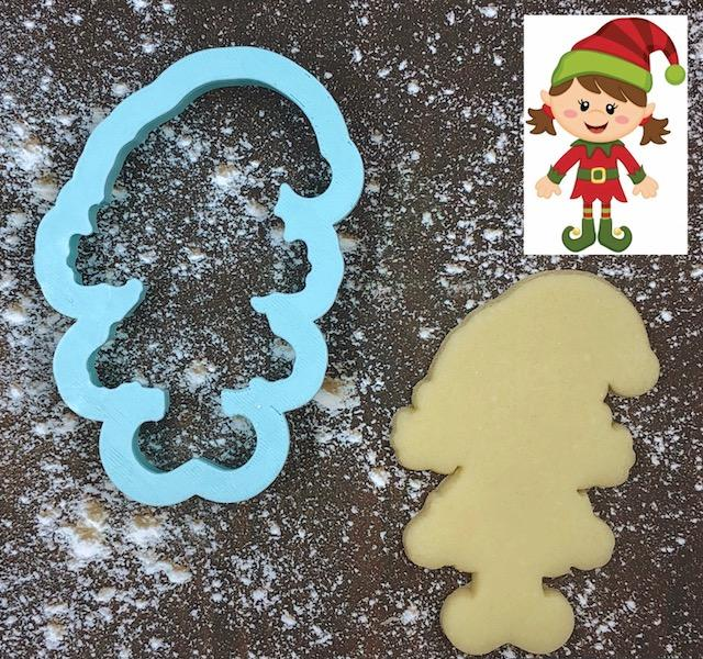 Jingle the Elf Cookie Cutter with Cookie