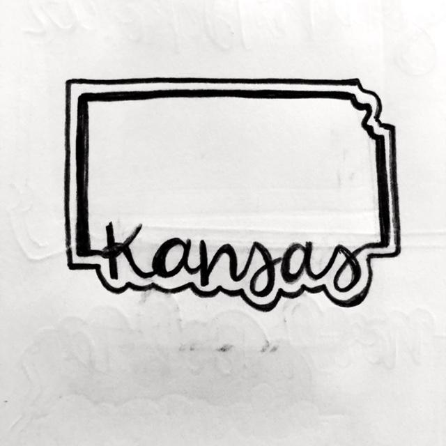 Kansas Cookie Cutter Sketch