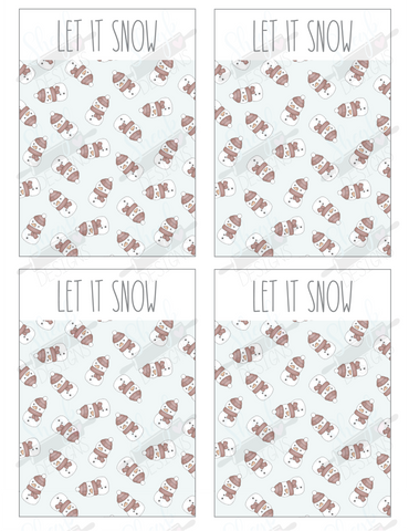 Let It Snow Cookie Card