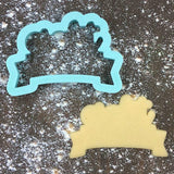 Lettered Banner Number Eight Cookie Cutter with Cookie