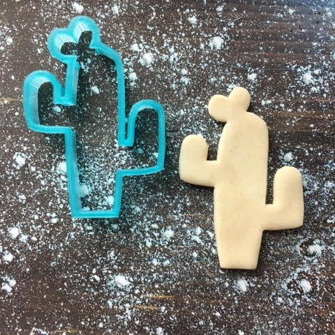 Love Cactus Cookie Cutter with Cookie