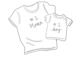 Mama/Dada & Me Shirts Cookie Cutter