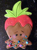 MD Berry the Strawberry Cookie Cutter Decorated