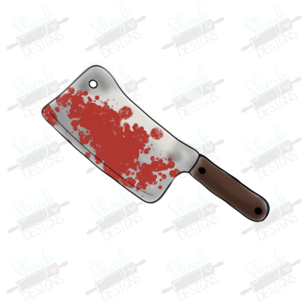 Meat Cleaver Cookie Cutter Sketch