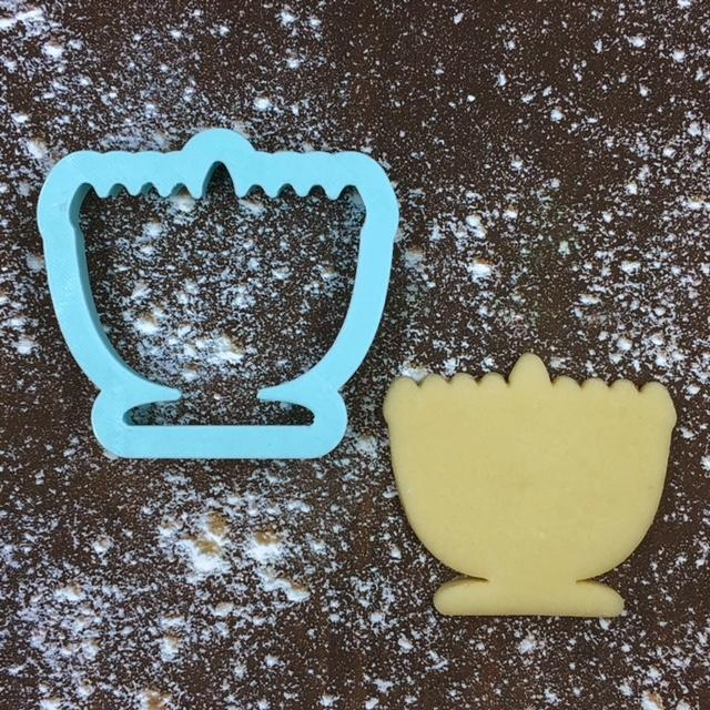 Menorah Cookie Cutter with Cookie