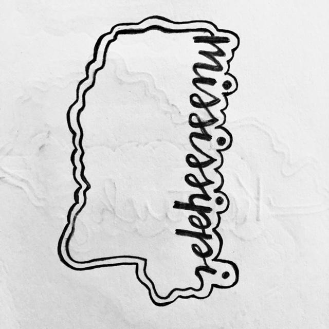 Mississippi Cookie Cutter Sketch