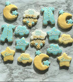 Moon + Stars Cookie Cutter Decorated