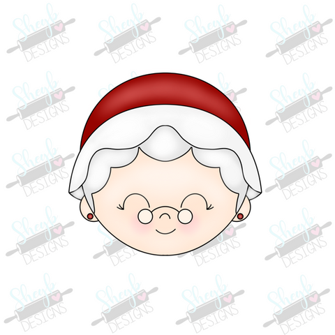Mrs Claus Face Cookie Cutter