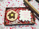 Mulberry Frame Cookie Cutter Decorated