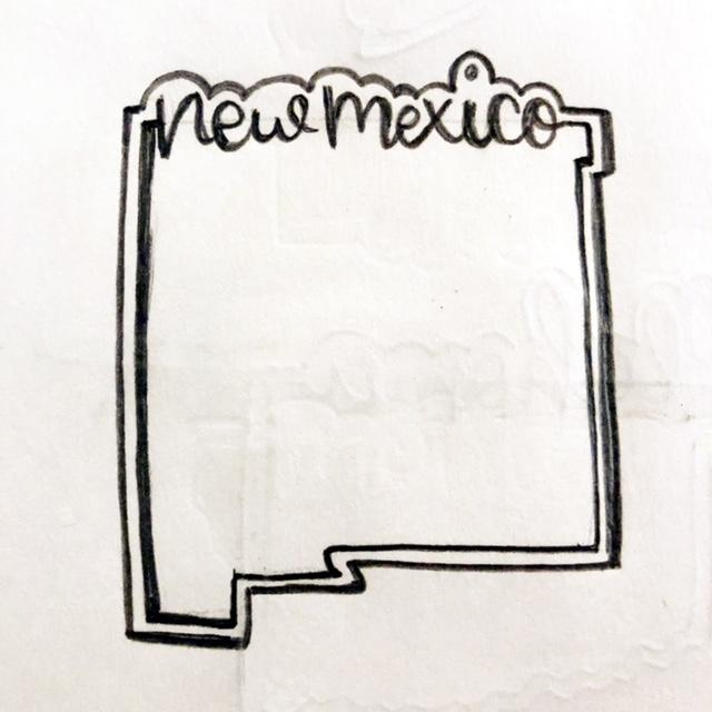 New Mexico Cookie Cutter Sketch