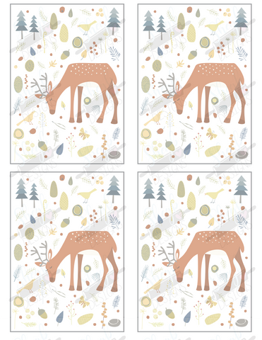 Oh Deer Cookie Card