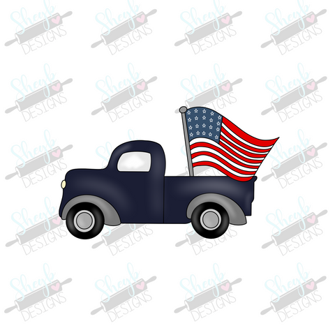 Patriotic Truck Cookie Cutter
