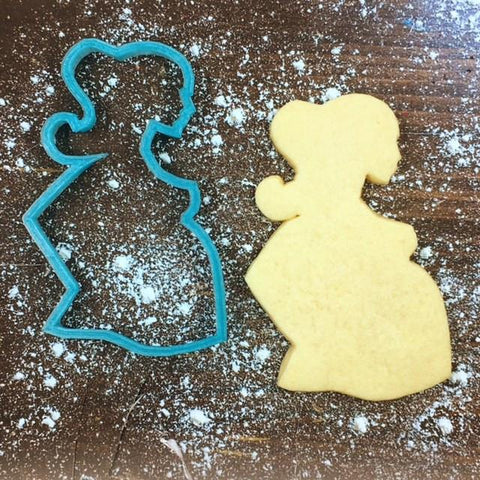 Pregnant Mama Cookie Cutter with Cookie