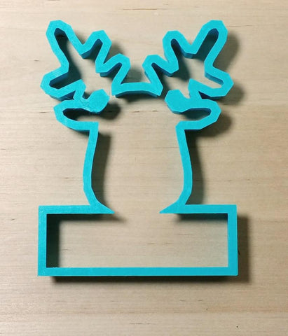 Reindeer Head PYO Cookie Cutter Top