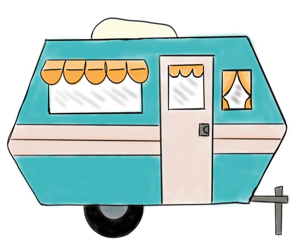 Retro Camper Cookie Cutter Sketch