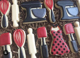 Rubber Spatula Cookie Cutter Decorated