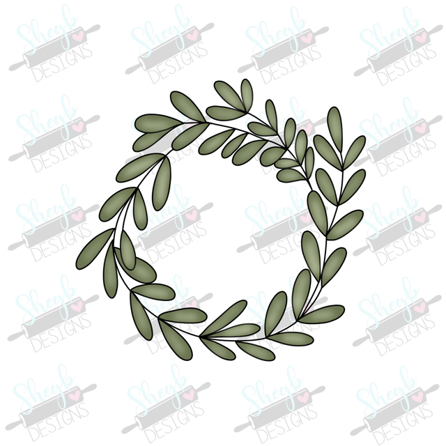 Sage Wreath Cookie Cutter