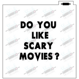 Scary Movie Two Piece Stencil Piece One