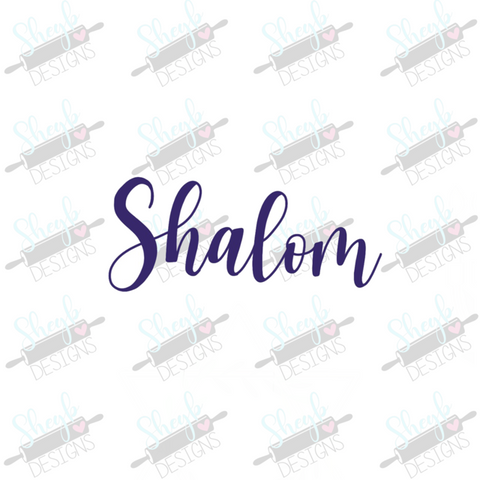 Shalom Cookie Cutter