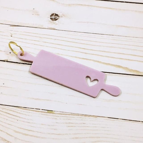 SheyB Rolling Pin Keychain Purple