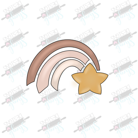 Shooting Rainbow Star Cookie Cutter