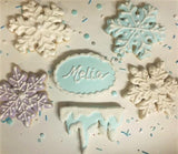 Snowflake Cookie Cutter Decorated