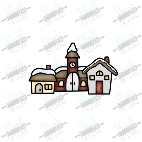 Snowglobe Village Cookie Cutter