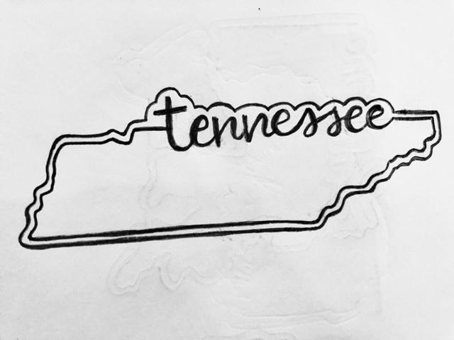 Tennessee Cookie Cutter Sketch