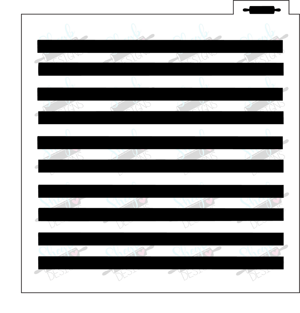Thick Stripes Background Stencil