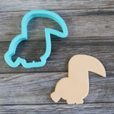 Tropical Toucan Cookie Cutter with Cookie