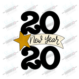 Twenty Twenty Star Banner Cookie Cutter New Years