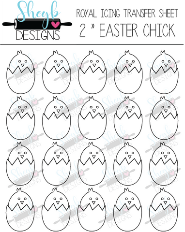 2 Inch Easter Chick Transfer Sheet