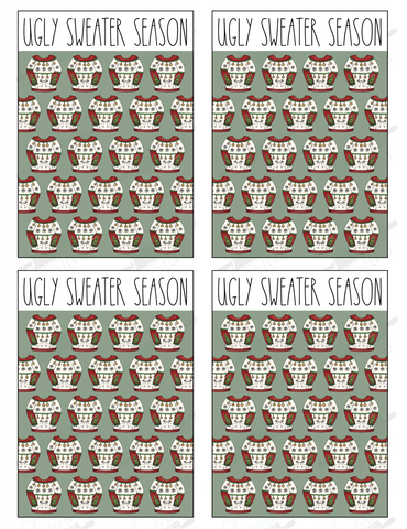 Ugly Sweater Cookie Card