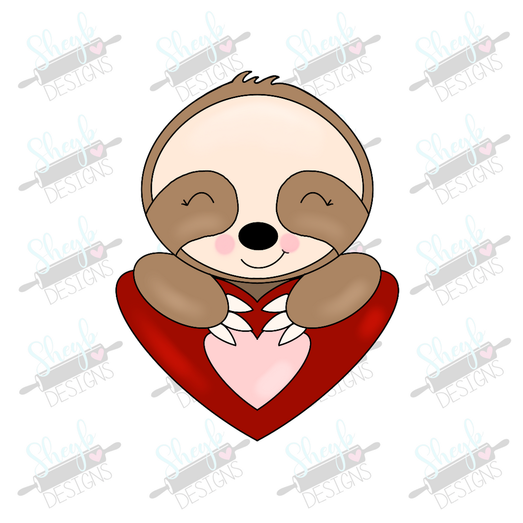 Valentine Sloth Cookie Cutter