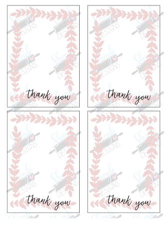 Vine Border Thank you Cookie Card