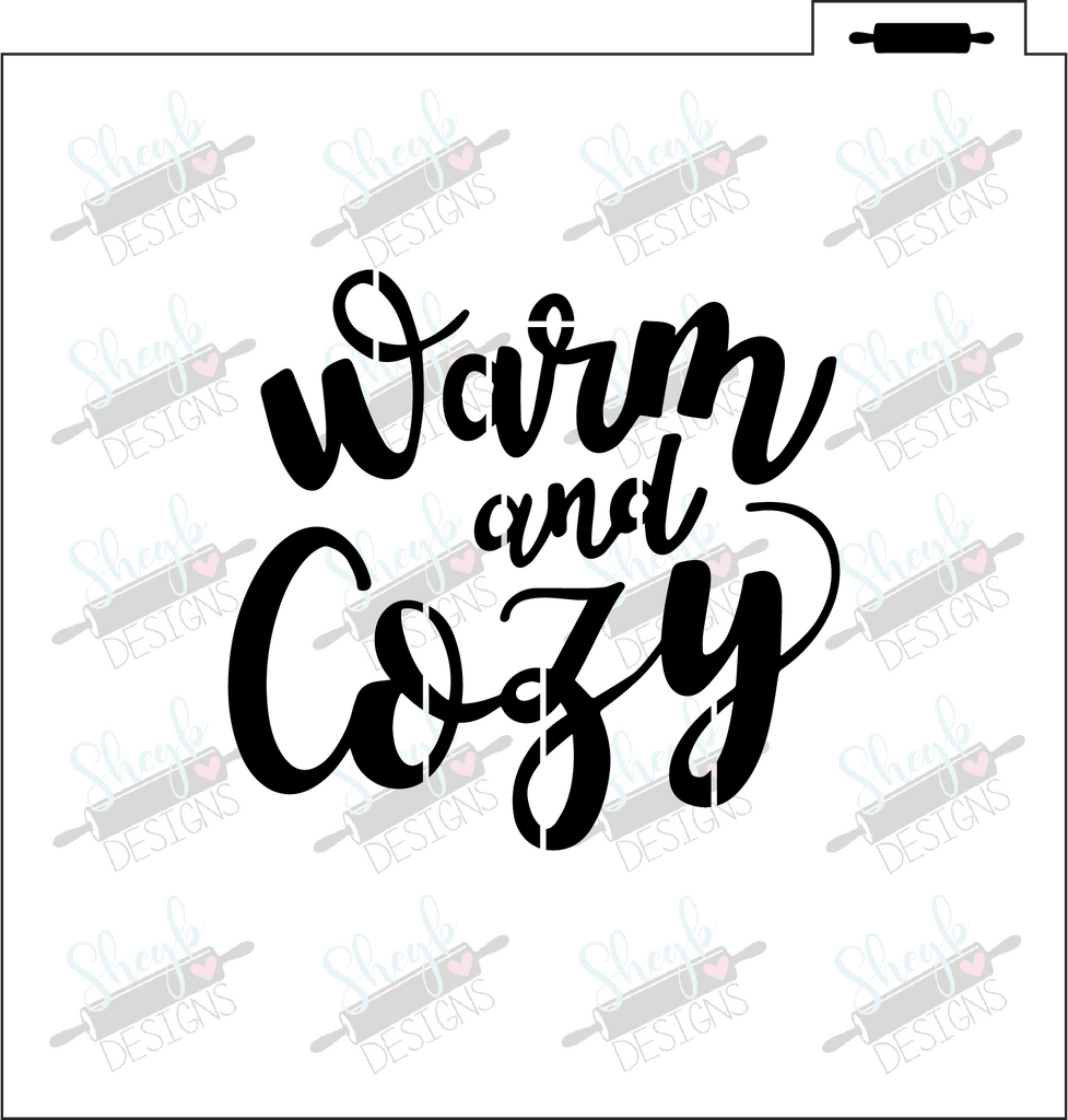Warm and Cozy Stencil