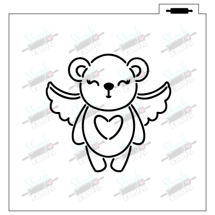 Winged Bear PYO Stencil