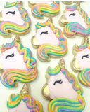 Winkpin the Unicorn Cookie Cutter Decorated