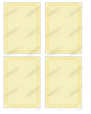 Yellow Doodle Cookie Card
