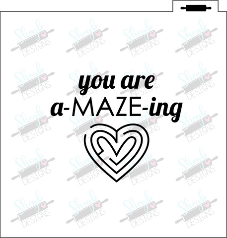 You Are A-Maze-Ing Stencil