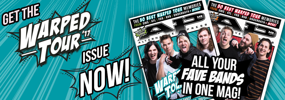 Welcome Warped Tour to the cover AP!