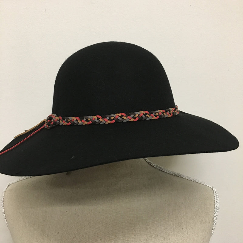 644592527f3f9 Stylish Black Hat with Braided Accent - Kelly and Rose Boutique