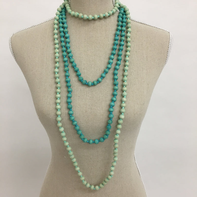 bauble with by alternative bib necklace chunky beads mint obaumint ombre beaded green views block color htm p