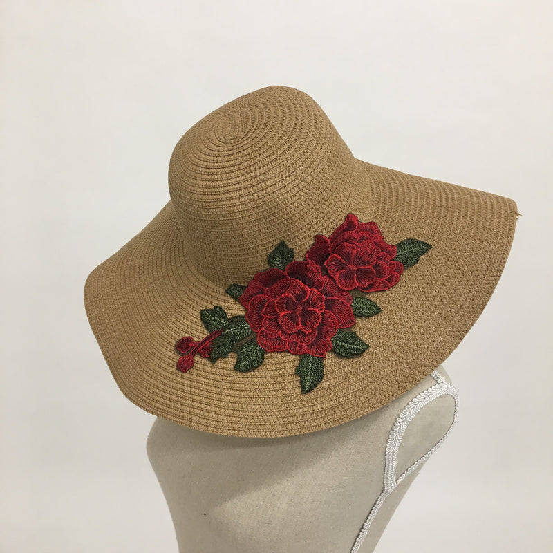f5401f907842e Red Rose Straw Hat - Kelly and Rose Boutique